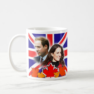 Príncipe Guillermo y taza de Kate Canadá