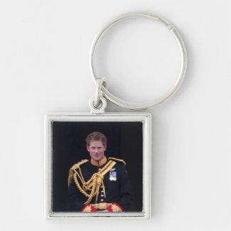 Príncipe Harry Llavero Cuadrado Plateado