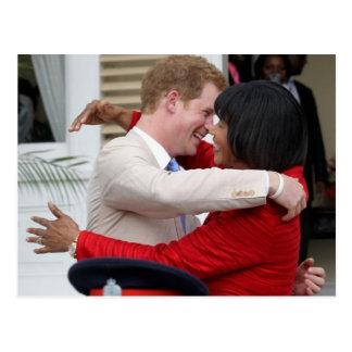 Príncipe Harry y postal del P.M. Portia Simpson Mi