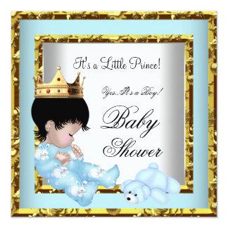 """Príncipe heredero azul 2 del muchacho del oro de invitación 5.25"""" x 5.25"""""""
