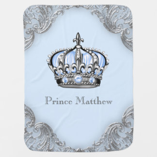 Príncipe heredero de plata de los azules cielos mantas de bebé