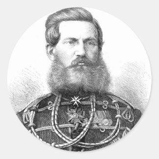 Príncipe heredero Frederick Guillermo de Prusia Pegatina Redonda