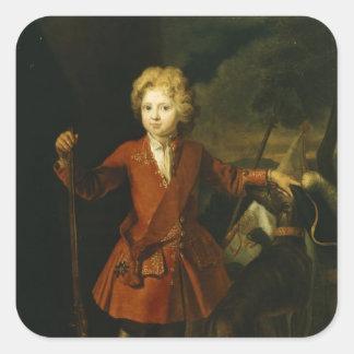 Príncipe heredero Frederick Guillermo I Calcomanía Cuadrada