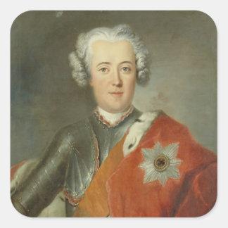 Príncipe heredero Frederick II, c.1740 Pegatina Cuadrada