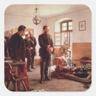 Príncipe heredero Frederick por el cadáver Calcomanias Cuadradas