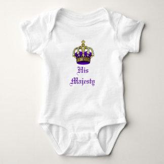 Príncipe heredero o princesa real Creeper del bebé Playera