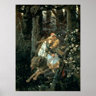 Príncipe Ivan en el lobo gris, 1889 Poster