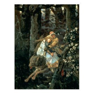 Príncipe Ivan en el lobo gris 1889 Postal