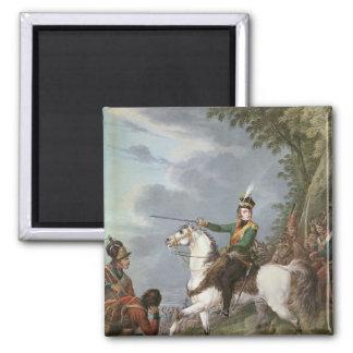 Príncipe José Antonio Poniatowski 1809-13 Imán Cuadrado