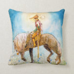 Príncipe joven en un caballo almohadas