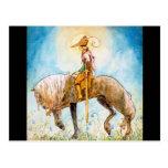 Príncipe joven en un caballo postal