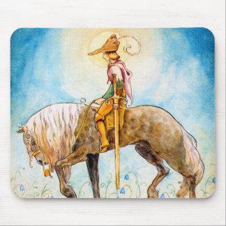 Príncipe joven en un caballo alfombrillas de ratones