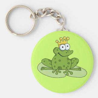 Príncipe Keychain de la rana Llaveros Personalizados