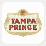 Príncipe LabelVintage de Tampa de los cigarros de Pegatina Cuadradas Personalizadas