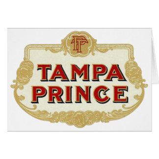 Príncipe LabelVintage de Tampa de los cigarros de Tarjeta De Felicitación