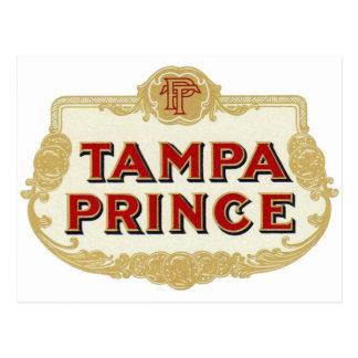 Príncipe LabelVintage de Tampa de los cigarros de Tarjetas Postales