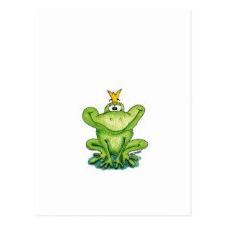Príncipe lindo y caprichoso de la rana de Gerda Postales