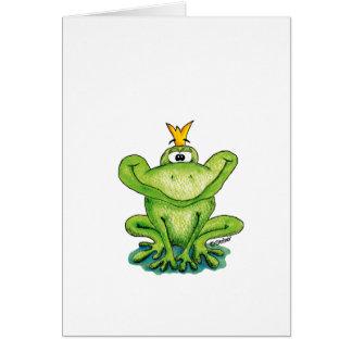 Príncipe lindo y caprichoso de la rana de Gerda Tarjeta De Felicitación