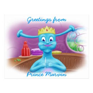 Príncipe Marvin en la tienda de Brita Postales