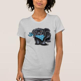 Príncipe negro del azul del muchacho de Pekingese Camisetas