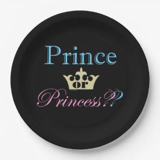 ¿Príncipe o princesa? Platos De Papel