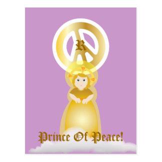 Príncipe Of Peace Monogram Postal-Personalizar