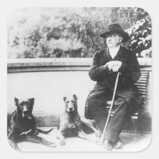 Príncipe Otto de Bismarck-Schoenhausen Pegatina Cuadrada