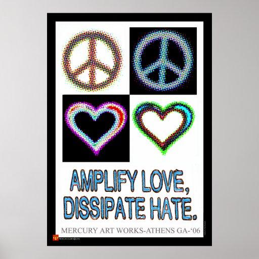Príncipe Paulson - amplifique el amor disipan odio Póster