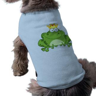 Príncipe personaje de dibujos animados de la rana  playera sin mangas para perro