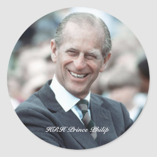 Príncipe Philip 1983 de HRH Pegatina Redonda