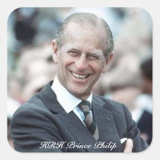 Príncipe Philip 1983 de HRH Pegatina Cuadrada