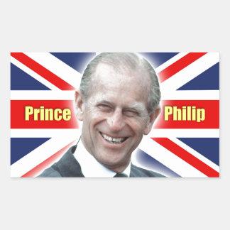 ¡Príncipe Philip de HRH - estupendo! Pegatina Rectangular