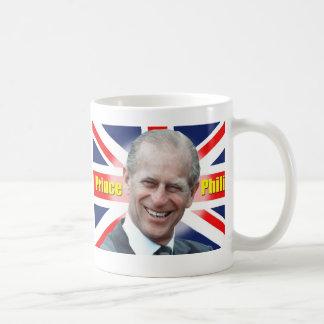 Príncipe Philip de HRH Taza Básica Blanca