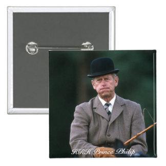 Príncipe Philip Windsor el an o 80 de HRH Pin Cuadrada 5 Cm
