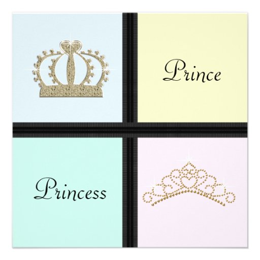 Príncipe princesa Gender Reveal Shower Comunicados Personales