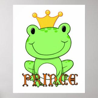 Príncipe Print de la rana Póster