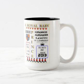 Príncipe real Commemoration Mug del bebé Taza De Dos Tonos