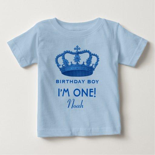 Príncipe real Crown del muchacho del cumpleaños un Remera