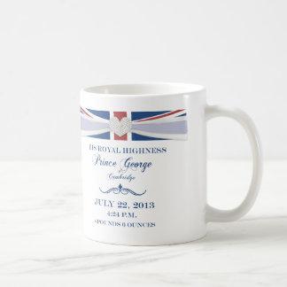 Príncipe real George Baby Souvenir Mug Taza Básica Blanca