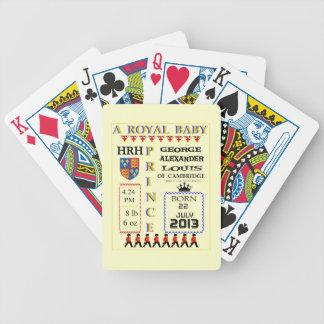 Príncipe real George de la tipografía de Cambridge Baraja De Cartas