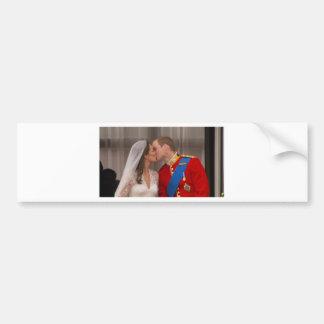 Príncipe real Guillermo del beso y princesa Kate Pegatina Para Auto