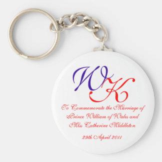 Príncipe real Guillermo Kate Middleton del boda Llavero Redondo Tipo Pin