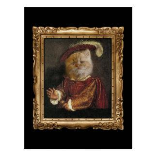 Príncipe real Kitty Framed Portrait Postcard Postales
