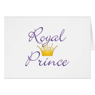 Príncipe real tarjeton