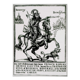 Príncipe Rupert a caballo Póster