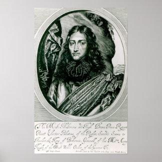 Príncipe Rupert del Rin grabado por Guillermo Póster