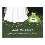 Príncipe Save de la rana del boda del cuento de ha Tarjetas Postales