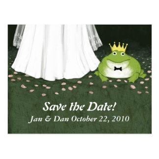 Príncipe Save de la rana del boda del cuento de Postales