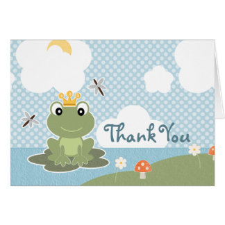 Príncipe Thank You Cards Notes de la rana Tarjeta Pequeña