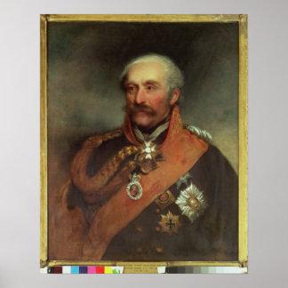 Príncipe Von Blucher c.1816 del mariscal de campo Poster